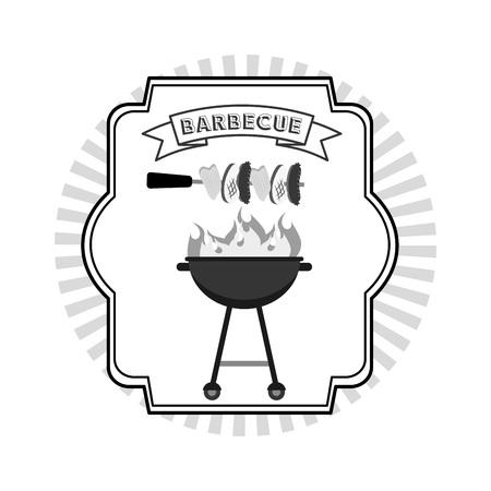 barbecue grill: delicious barbecue design, vector illustration eps10 graphic