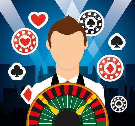 roulette player: casino games design, vector illustration eps10 graphic Illustration