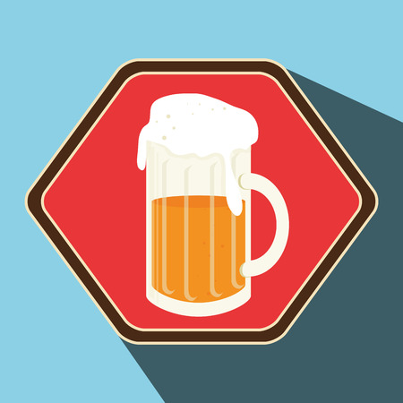 hexagone: Premium beer graphic design, vector illustration eps10 Illustration