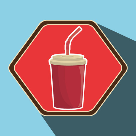 tonic: Delicious fast food graphic design, vector illustration eps10
