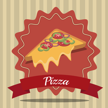aliment: Delicious fast food graphic design, vector illustration eps10