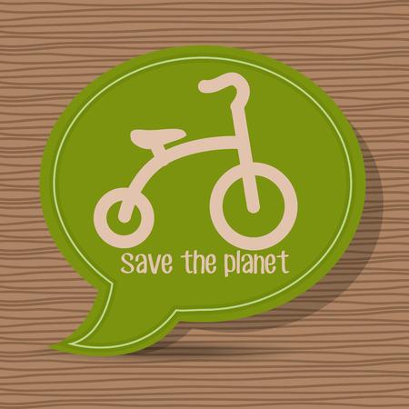 wheel guard: Ride a bike graphic design, vector illustration eps10