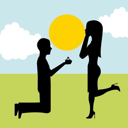 huwelijksaanzoek ontwerp, vectorillustratie eps10 grafische
