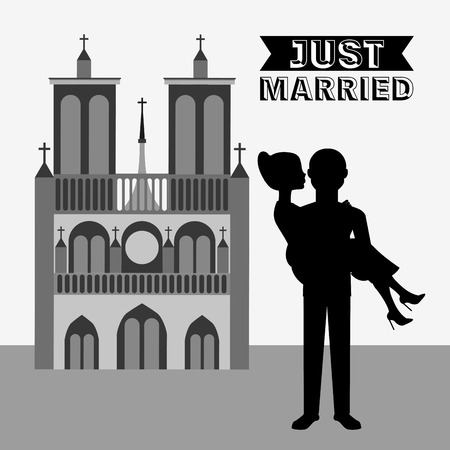 just: just married design, vector illustration eps10 graphic