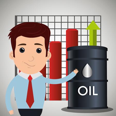 price development: Petroleum and oil business graphic design, vector illustration eps10 Illustration