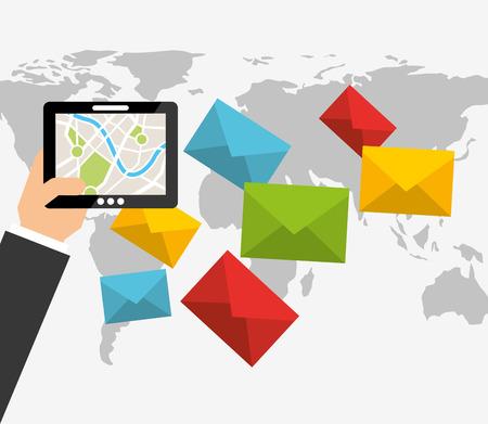 post mail: post mail service design, vector illustration eps10 graphic Illustration
