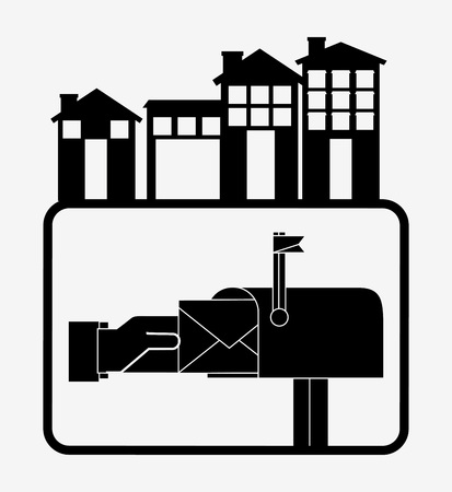 mail service: post mail service design, vector illustration eps10 graphic Illustration