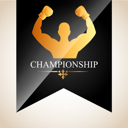 championship: boxing championship design, vector illustration eps10 graphic