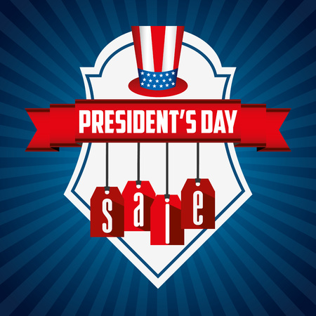 presidents day sale design, vector illustration eps10 graphic Stock Vector - 51557435