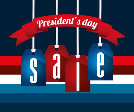 diseño de la venta día de los presidentes, ejemplo gráfico del vector eps10 Ilustración de vector