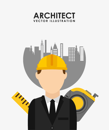 building inspector: professional architect design, vector illustration eps10 graphic Illustration