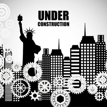 outside machines: under construction design, vector illustration eps10 graphic Illustration
