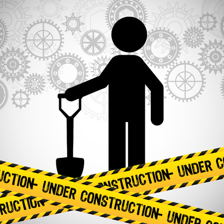 safety equipment: under construction design, vector illustration eps10 graphic Illustration