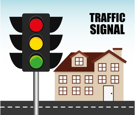 regulate: traffic signal design, vector illustration eps10 graphic
