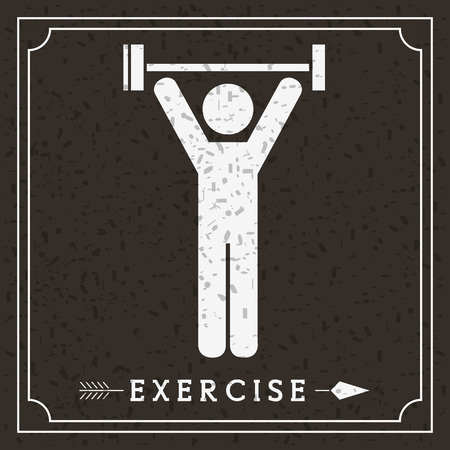 creative strength: exercise icon design, vector illustration eps10 graphic Illustration