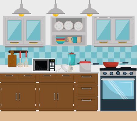 Kitchen and dishware graphic design, vector illustration eps10