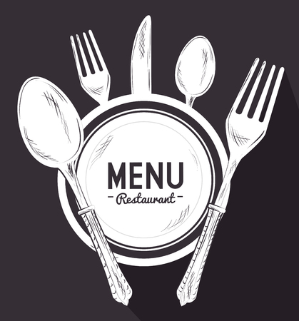gastronomy: Food and nutrition graphic design, vector illustration eps10