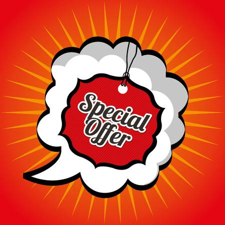 on special offer: special offer design, vector illustration eps10 graphic