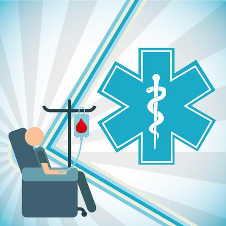 a snake in a bag: health care design, vector illustration eps10 graphic Illustration