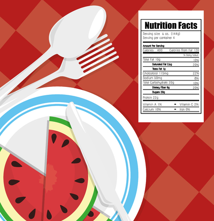 ailment: Food and nutrition graphic design, vector illustration eps10