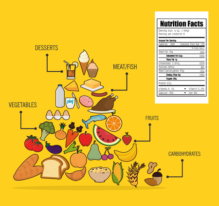 Food and nutrition graphic design, vector illustration eps10