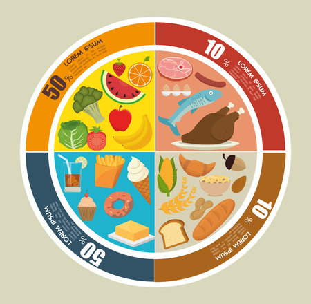 fas: Food and nutrition graphic design, vector illustration eps10