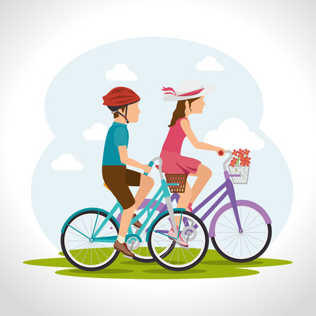 powerful: Bike and cyclism graphic design, vector illustration eps10