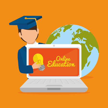 world class: eLearning and education technology graphic design, vector illustration eps10 Illustration