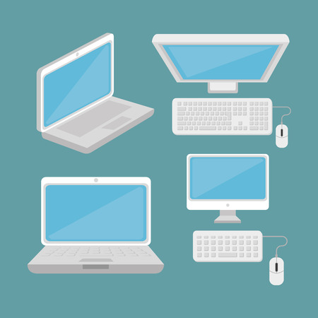 electronic devices: Technology electronic devices graphic design, vector illustration eps10