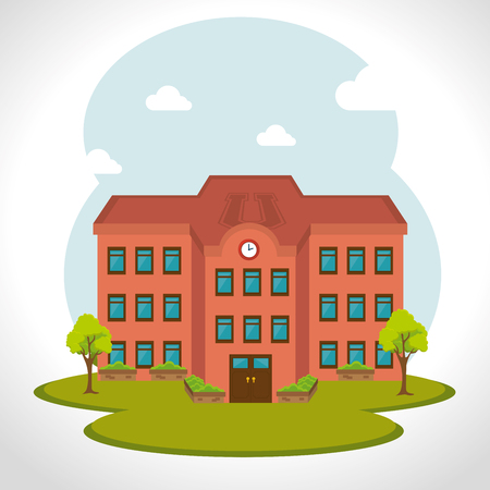 bulding: School traditional education graphic design, vector illustration Illustration