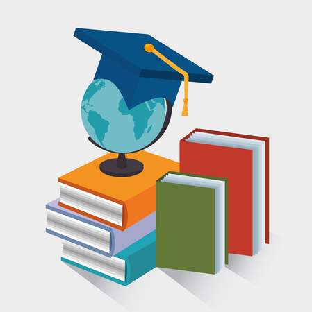 world class: eLearning and technology education graphic design, vector illustration eps10