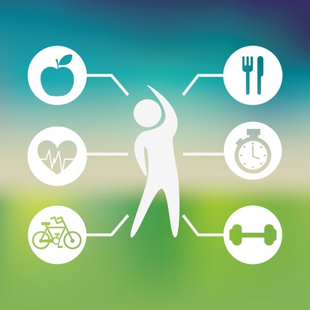 health and wellness: healthy lifestyle design, vector illustration eps10 graphic Illustration