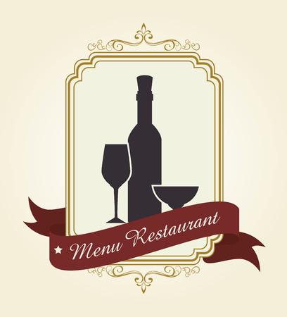 gastronomy: Restaurant and gastronomy graphic design, vector illustration eps10