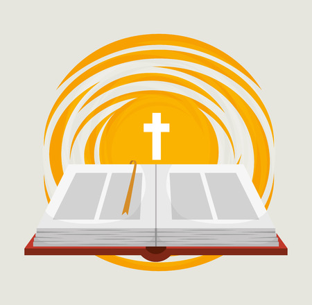 bible book: Holy bible book graphic design, vector illustration eps10