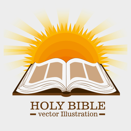 Holy bible book graphic design, vector illustration eps10 Фото со стока - 51651556