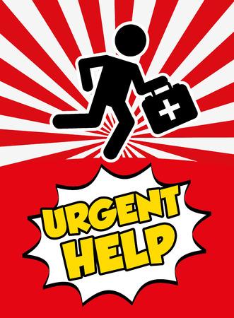 emergency response: urgent help design, vector illustration eps10 graphic