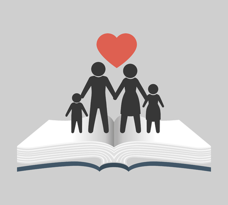 church family: Holy bible book graphic design, vector illustration eps10
