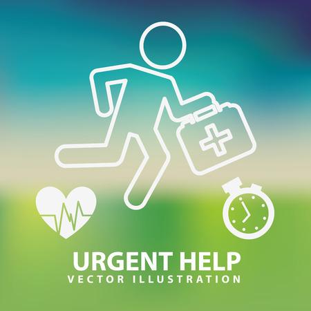 emergency medical: urgent help design, vector illustration eps10 graphic