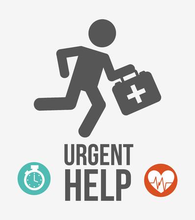 urgent: urgent help design, vector illustration eps10 graphic