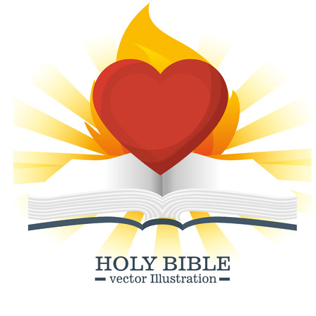 catholicism: Holy bible book graphic design, vector illustration eps10
