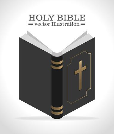 testament: Holy bible book graphic design, vector illustration eps10