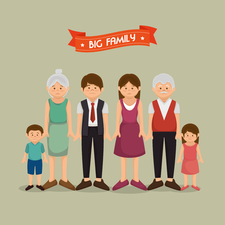 familiar: United family graphic design, vector illustration eps10