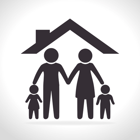 familia unida: familia unida dise�o gr�fico, ilustraci�n vectorial eps10 Vectores