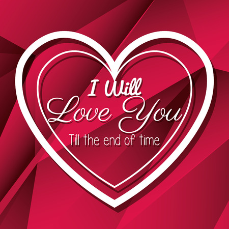 end of the days: Happy valentines day card design, vector illustration graphic Illustration