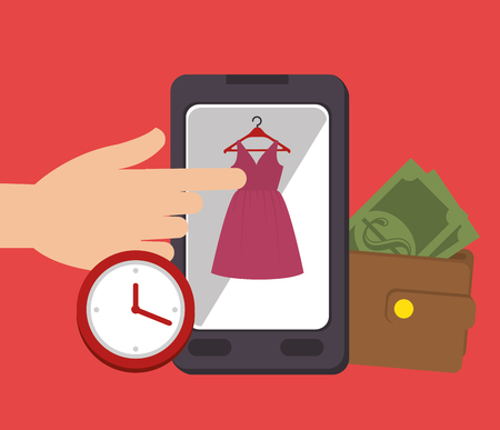 ecommerce icons: Digital marketing and ecommerce graphic design, vector illustration