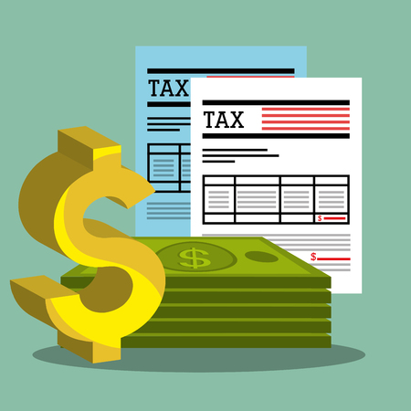 pay: Pay taxes graphic design, vector illustration