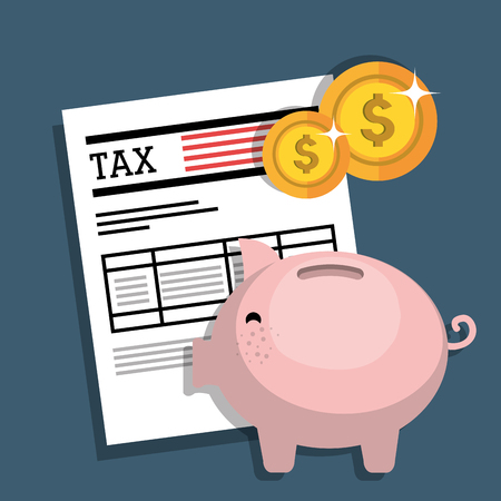 tax forms: Pay taxes graphic design, vector illustration