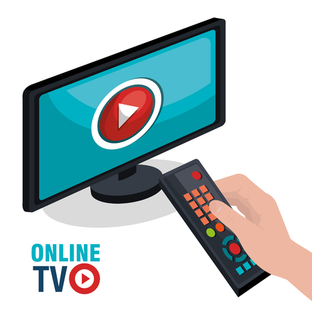 live stream tv: TV live stream graphic design, vector illustration