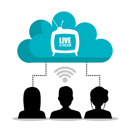TV live stream graphic design, vector illustration