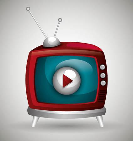 live stream sign: TV live stream graphic design, vector illustration